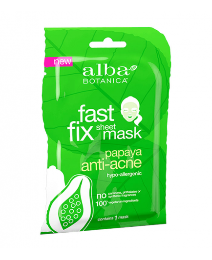 Alba Botanica - Mascarilla de papel Fast Fix - Papaya Anti-acné
