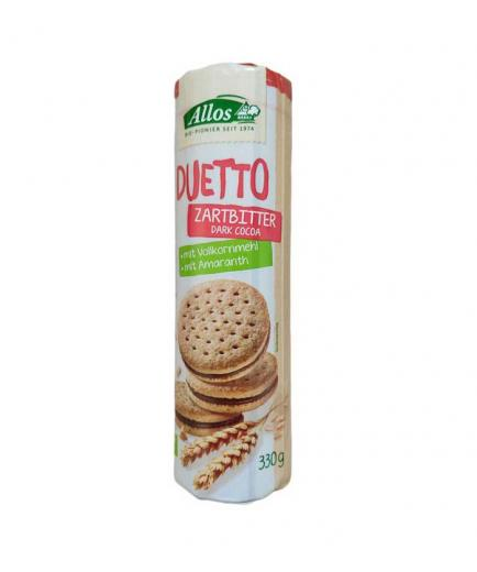 Allos - Bio Duetto biscuits filled with dark chocolate cream 330g