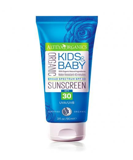 Alteya Organics - Organic Sunscreen for children and baby - Face and Body SPF 30