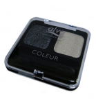 Alva - Creamy Eye Shadow Duo - Black smoky