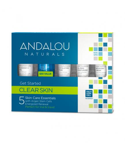 Andalou Naturals - Get Started Clear Skin - Argan Stem Cells & Energized Renewal
