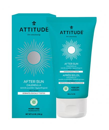 Attitude - After Sun Calendula Melt-in Gel - Mint and Cucumber 150gr