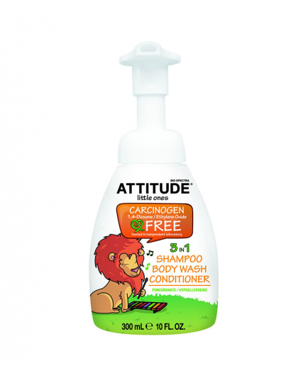 ATTITUDE - Little ones 3 in 1 Shampoo, Body Wash, Conditioner