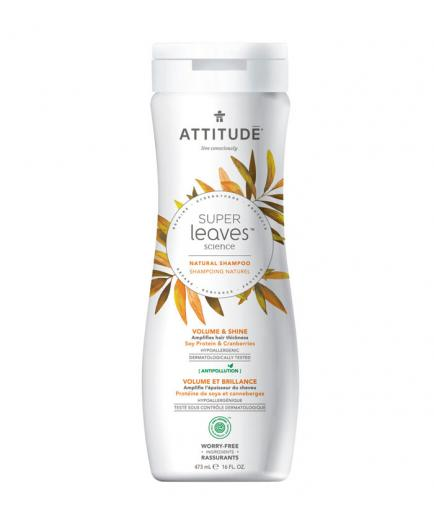 Attitude - Super Leaves Volume and shine shampoo - Soy Protein and Cranberries