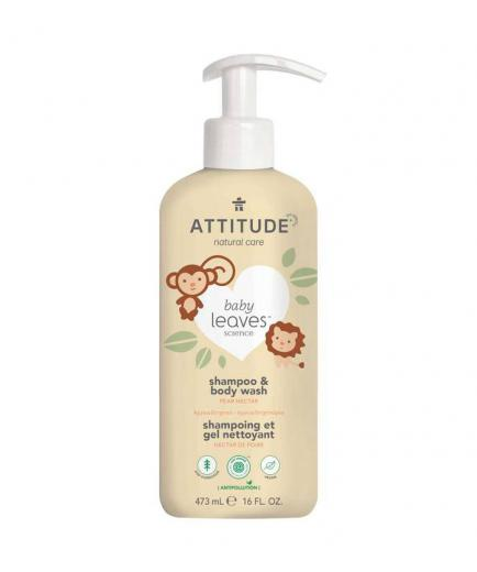 Attitude - Shampoo and gel 2 in 1 for babies Baby Leaves 473ml - Pear nectar
