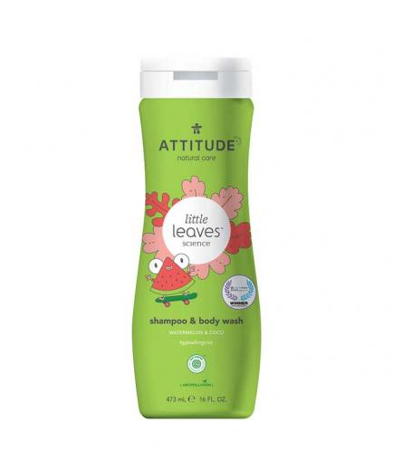 Attitude - Shampoo and gel 2 in 1 for children Little Leaves 473ml - Watermelon and Coconut