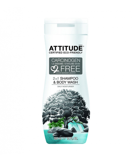 ATTITUDE - 2 in 1 Shampoo and body wash Daily Moisturizer