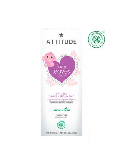 Attitude - Baby Leaves Diaper Rash Cream Hypoallergenic - Fragrance free
