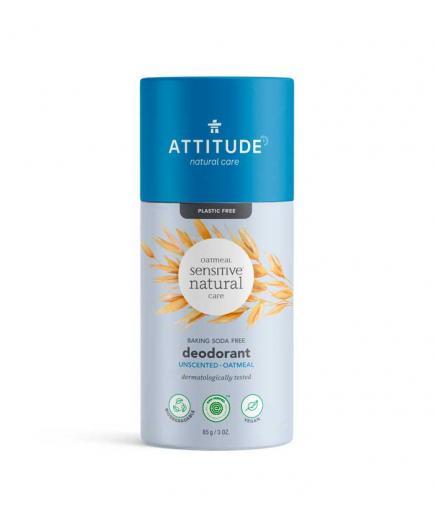 Attitude - Natural Sensitive Baking Soda Free Vegan Solid Deodorant - Fragrance Free