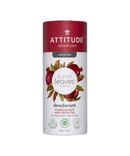 Attitude - Super Leaves Vegan Solid Deodorant - Pomegranate and green tea