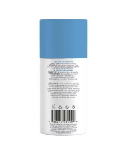 Attitude - Super Leaves Vegan Solid Deodorant - Natural