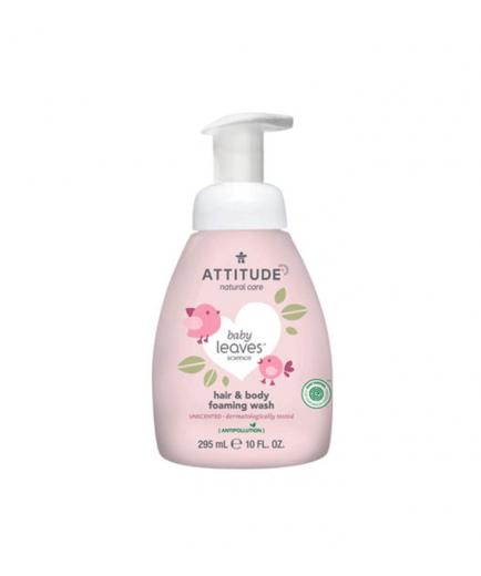 Attitude - Hair and body foaming wash 2 in 1 for babies Baby Leaves 295ml - Fragrance free