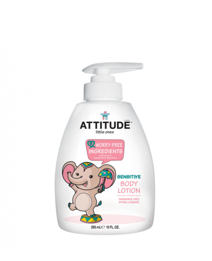 Attitude - Loción corporal sensitive para bebé Little ones - Sin fragancia