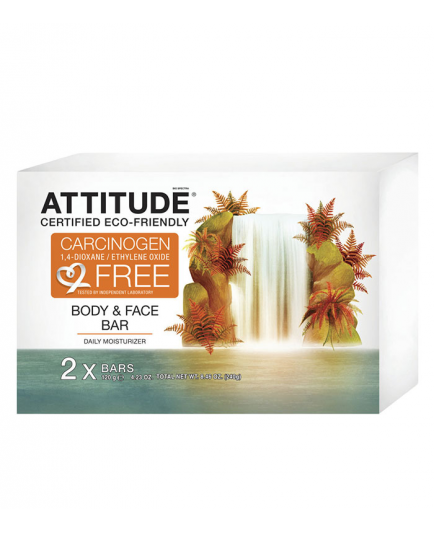 ATTITUDE - 2x Body and face bar daily moisturizer