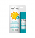 Attitude - 100% Mineral Face stick for kids SPF 30 - Fragance-free