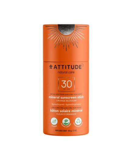 Attitude - 100% natural vegan sunscreen in stick SPF 30 85g - Orange flower
