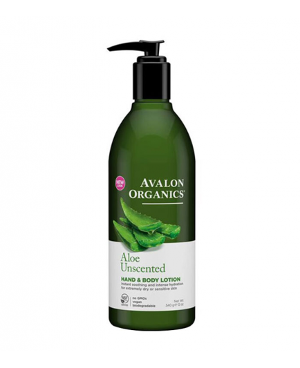 Avalon Organics - Hand and Body Lotion Unscented - Aloe Unscented