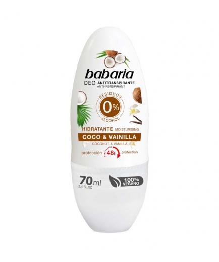 Babaria - Moisturizing antiperspirant roll on deodorant - Coconut and Vanilla