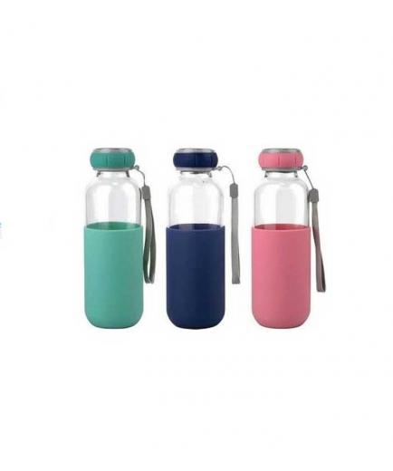 Bewinner - Glass bottle with silicone sleeve 300ml