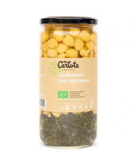 Carlota Organic - Chickpeas with spinach Bio 720g