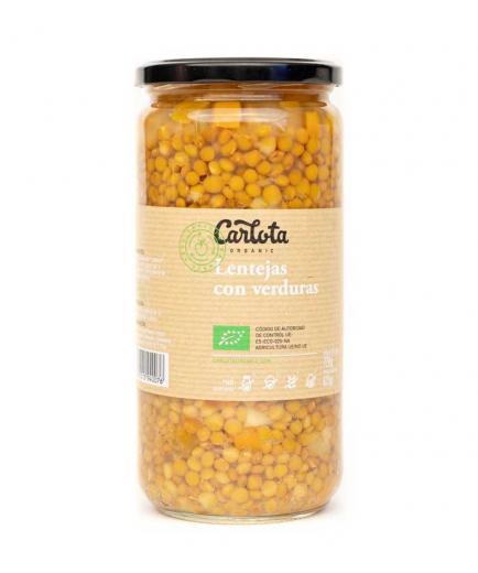 Carlota Organic - Lentils with vegetables Bio 720g