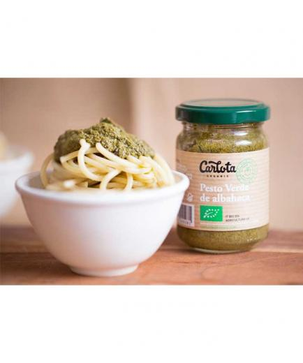 Carlota Organic - Green basil pesto Bio 140g