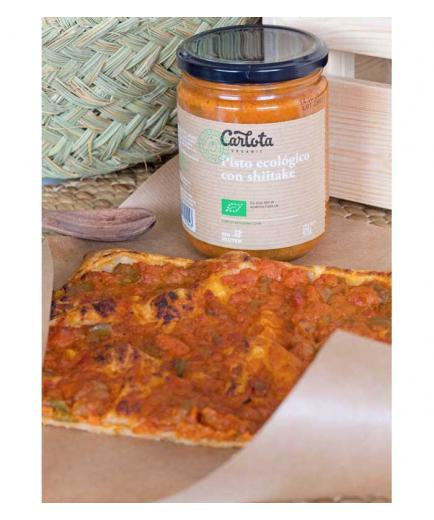 Carlota Organic - Organic pisto with gluten-free shiitake 425g
