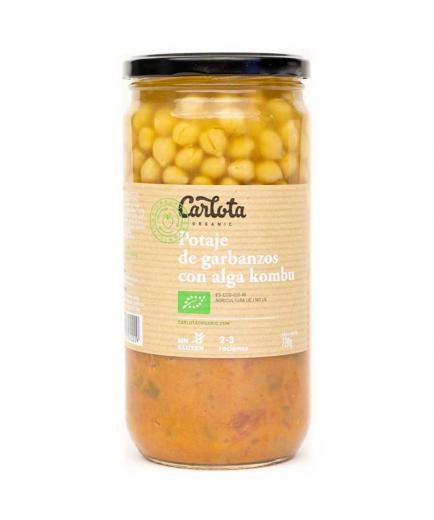 Carlota Organic - Chickpea stew with kombu seaweed Bio 720g