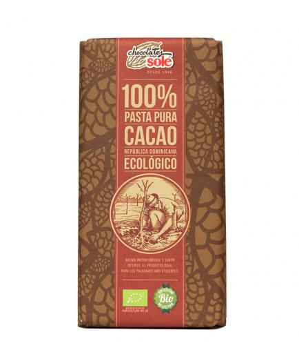 Chocolates Solé – 100% pure organic cocoa paste