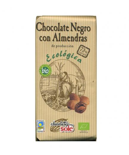 Chocolates Solé – Dark chocolate with almonds 73% cocoa