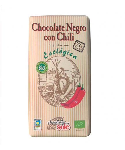 Chocolates Solé – Dark chocolate with chili 73% cocoa