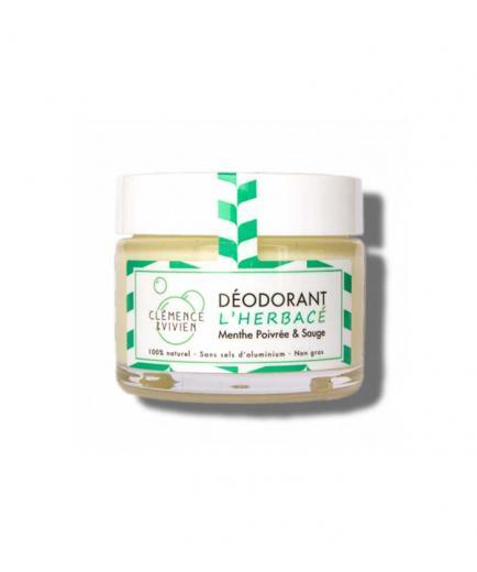 Clémence & Vivien - Natural deodorant cream - Mint and sage
