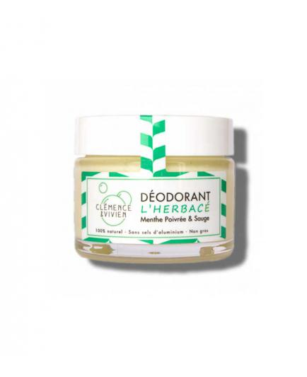 Clémence & Vivien - Natural deodorant cream - Mint and sage