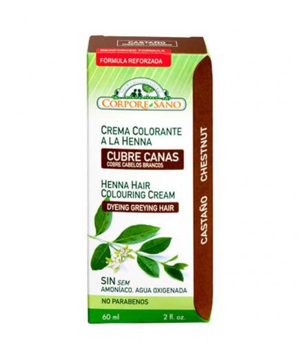 Corpore Sano - Henna Coloring Cream Covers Gray Hair 60ml - Brown