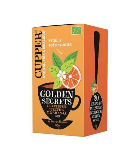 Cupper - Organic Honeybush, Orange and Turmeric Infusion Golden Secrets - 20 Sachets