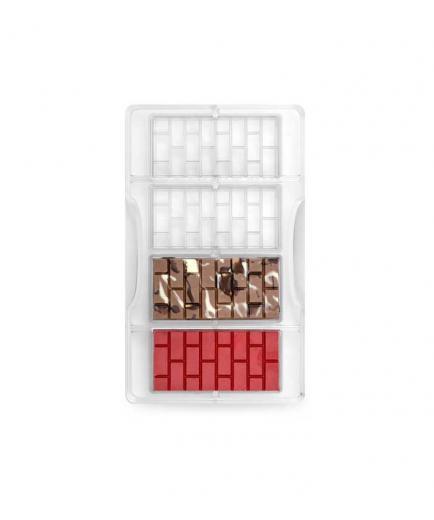 Decora - Polycarbonate mold for brick chocolate bar