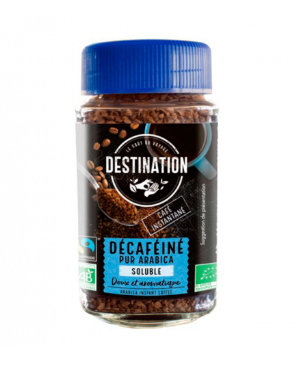 DESTINATION - 100% Arabica freeze-dried soluble decaffeinated coffee