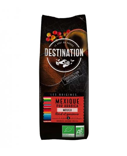 DESTINATION - Ground coffee Mexico Chiapas of 100% Arabica natural roast