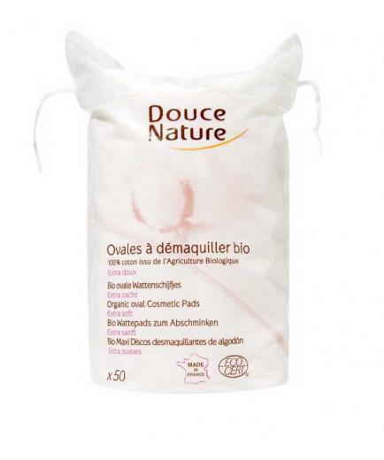 Douce Nature - Oval makeup remover discs 100% organic cotton