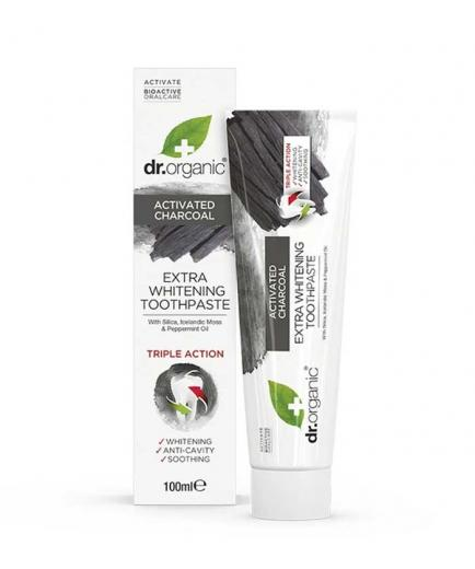 Dr Organic - Active Carbon Whitening Toothpaste 100ml