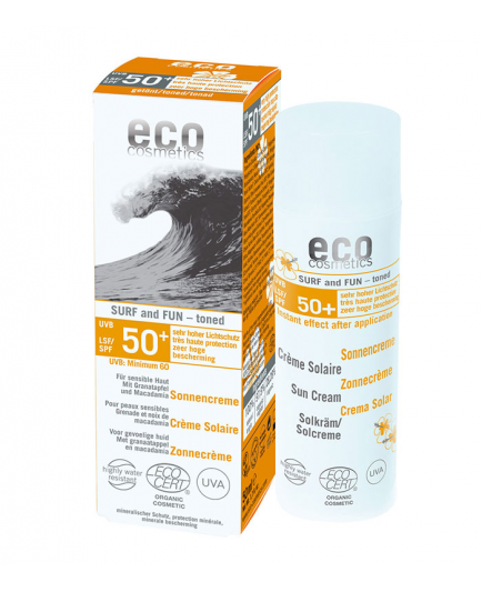 ECO Cosmetics - Protector Solar Surf & Fun con color FPS 50+