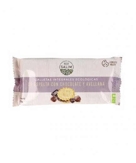 Eco-Salim - Wholemeal spelled biscuits with chocolate and bio hazelnut 80g