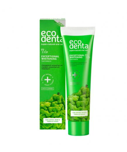 ecodenta - Whitening toothpaste for coffee-, tea-, red-wine-drinkers, and smokers