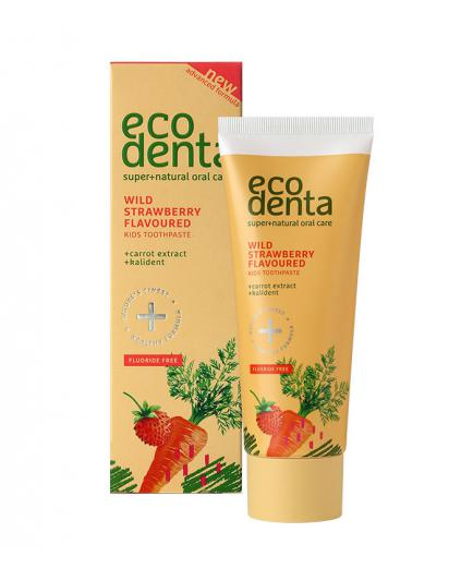 ecodenta - Wild strawberry scented toothpaste for children fluoride-free