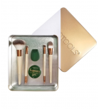 Ecotools - Set de  Brochas + Esponja Warm winter glow beauty kit