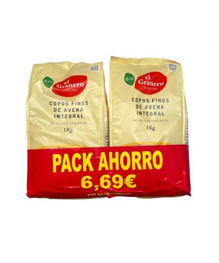 El Granero Integral - Organic Smooth Wholegrain Oat Flakes 1kg - Savings pack
