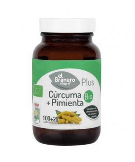El Granero Integral - Turmeric and pepper Bio 120 capsules