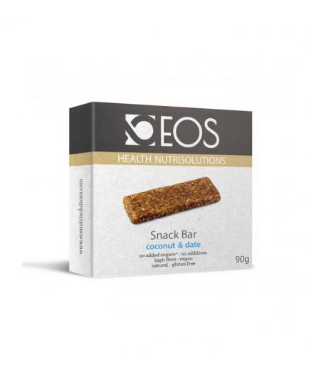 EOS nutrisolutions - Pack of 3 vegan energy bars - Date and Coconut