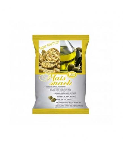 Fiorentini - Organic non-fried mini corn pancakes snack 50g - Olive oil flavor