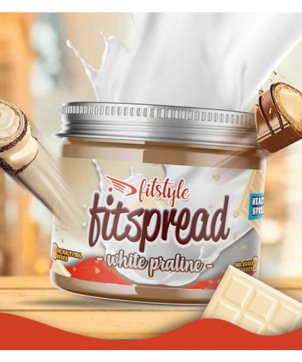 Fitstyle - Hazelnut spread Fitspread White Praline 200g - White chocolate